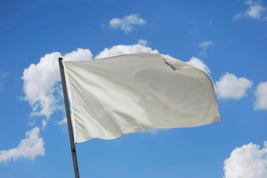 White flag waving on the wind. Put your own text