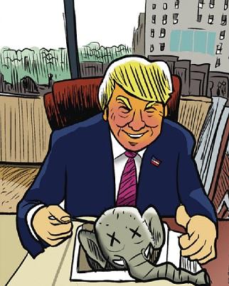 trump eats gop